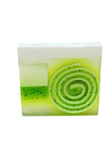 Bomb Cosmetics Lime & Dandy Sabun Dilimi 100g Renkli